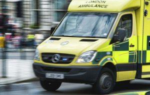 UK NHS patients enduring long ambulance waits…..