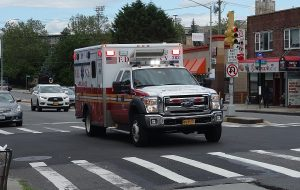 Six FDNY ambulances…..