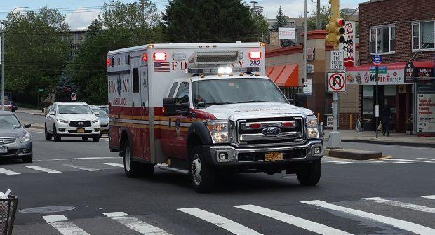 Six FDNY ambulances…..