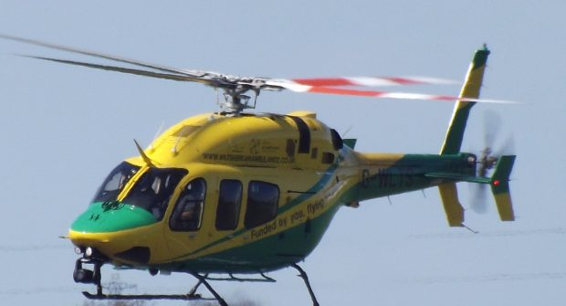 Wiltshire air ambulance in UK aborts landing…..